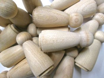 Pack of 50 Little Peg Wooden people dolls for Wood Toys and games Angel Peg dolls